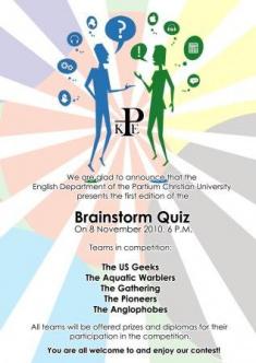 Brainstorm Quiz poster